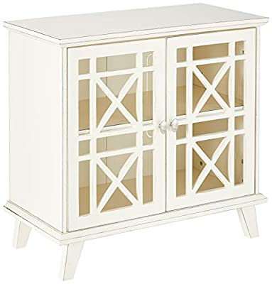 "WE Furniture 32"" Fretwork Accent Console"