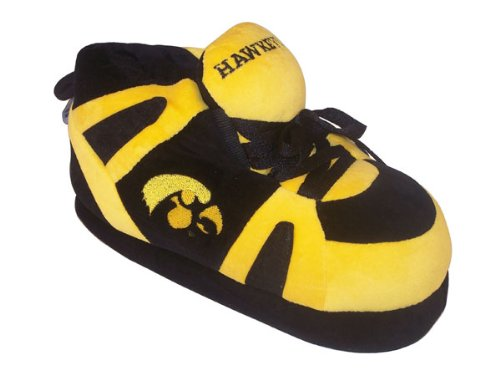 College Hawkeyes Iowa Feet NCAA Womens Sneaker Men's Slippers and Happy 1XfH6nqwf