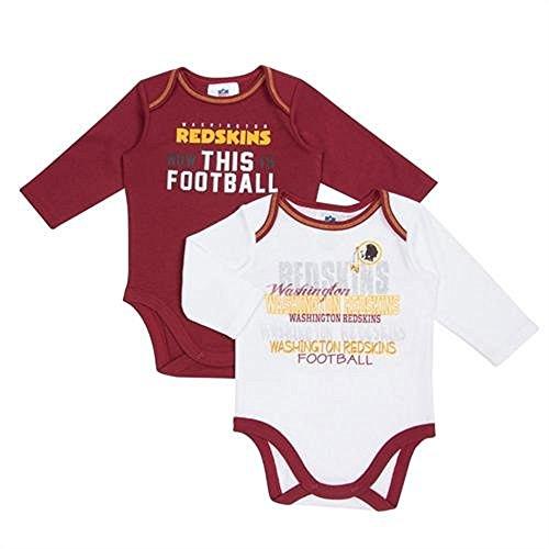 Washington Redskins Sleeve Bodysuit 2 Pack
