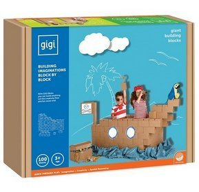 Mindware GiGi Giant Building Bloks 100 Piece (Jumbo Cardboard Building Blocks)