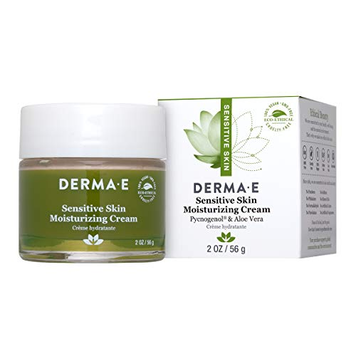 DERMA E Sensitive Skin Moisturizing Cream with Pycnogenol Vitamins A, C and E 2oz (Best Day And Night Cream For Sensitive Skin)