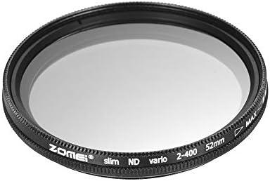 Rakuby 52mm 超薄型 可変フェーダー ND2-400 ニュートラル濃度 NDフィルター 調節可能 ND2 ND4 ND8 ND16 ND32〜ND400 Nikon D5300 D5200 D5100 D3300 D3200 D3100 DSLRカメラ用
