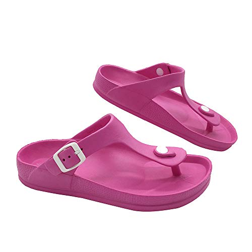 LUFFYMOMO Comfort Footbed Eva Flip fiop Thong Sandals for Womens Mens (6 B (M) US Women / (Insole Length) 9.45 inch, Pink) ()