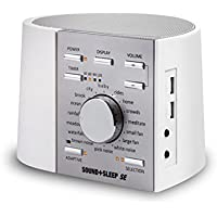 Adaptive Sound Technologies Sound+Sleep SE Special Edition High Fidelity Sleep Sound Machine with Real Non-Looping Nature Sounds (White/Silver)