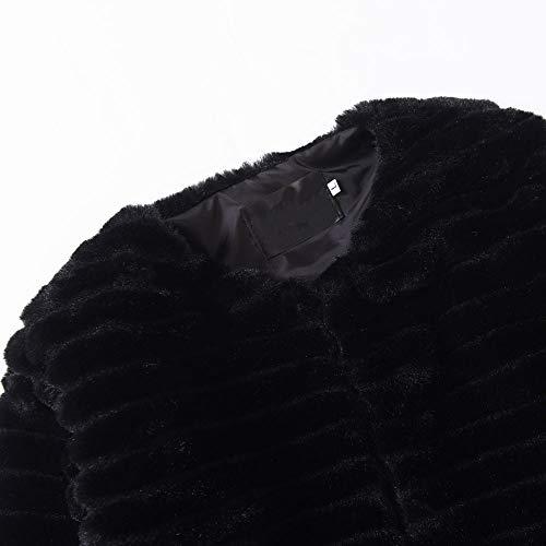 POLP Abrigos mujer Abrigos Pelo Mujer Invierno Rosa Caliente Chaqueta Manga Larga Capucha Abrigos de Pelo Mujer Invierno Caqui Abrigos Corto emulational ...