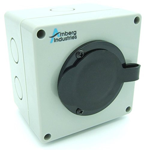 30 Amp Generator Inlet Box, AI-PB30 Power Cord Twist Lock Receptacle for Transfer Switches. Indoor/Outdoor Rated + 6 Knockouts and Deeper Wiring Depth for Easier Install. cUL Listed Flanged ()