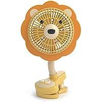 LIVION Fanimal Clip-On Stroller Fan 5 - USB/Battery Powered Baby/Mini Desk Fan with Assorted Animal Designs (ROAR)