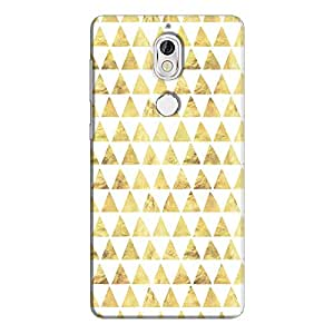 Cover It Up - Gold White Triangle Tile nokia 7 Hard Case