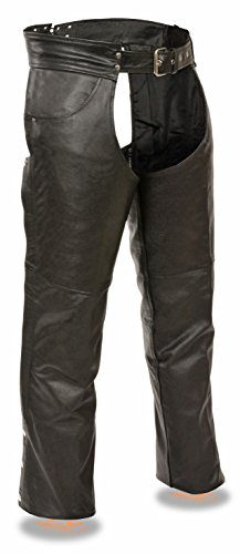 Event Leather Men's Classic Leather Chap w/ Jean Pockets (Black, XL) by Milwaukee Leather