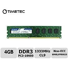 Timetec Hynix IC 4GB DDR3 1333MHz PC3-10600 Non ECC Unbuffered 1.5V CL9 2R8 Dual Rank 240 Pin UDIMM Desktop PC Computer Memory Ram Module Upgrade (Low Density 4GB)