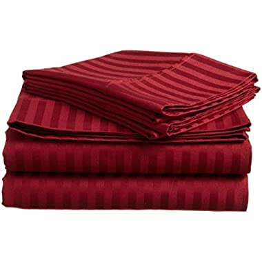 #1 Sheet Set on Amazon - 100% Microfiber Luxury Bedding Collections - HIGHEST QUALITY Fitted and Flat Bed Sheets - Pillowcases - Deep Fitted Pockets - Wrinkle - Fade - Stain Resistant - Great For Bedroom - Vacation Home - Guest Room - RV and Children's Room - Super Soft Silky and Hypoallergenic!, LIFETIME MONEY BACK GUARANTEE (Queen, BURGUNDY)