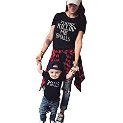 """Anboo Family Matching T-shirts, Dad Mom Baby Kid """"You're Killin Me Smalls '' Prints Tops Outfit (3T, Kids)"""
