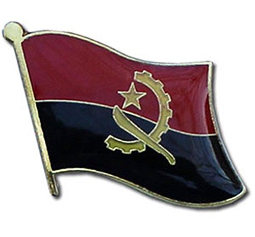 ALBATROS Pack of 50 Angola Country Flag Lapel Pin for Bike Hat and Cap for Home and Parades, Official Party, All Weather Indoors Outdoors