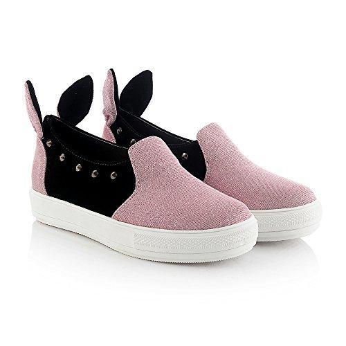 Dolphinbanana Mignon-à-le-noyau Femmes Mode Sneakers Lapin Oreille Cosplay Slip-on Mocassins Décontracté Bas Haut Costume Chaussures Apink