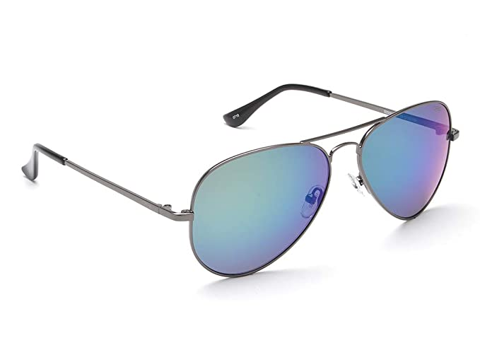 ff269aaaf6a Image Unavailable. Image not available for. Colour  IDEE Mirrored Aviator  Unisex Sunglasses - (IDS2500C39SG