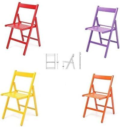 Sedie Da Esterno Colorate.Buiani 4 Sedie Colorate Pieghevole Sedia In Legno Verniciato