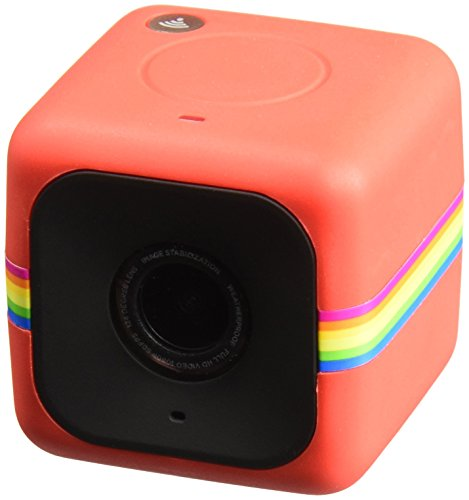 Polaroid Cube+ Live Streaming 1440p Mini Lifestyle Action Camera with Wi-Fi & Image Stabilization (Red)