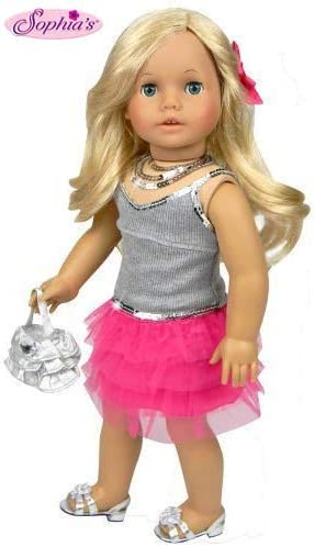 Black Sequin Leggings 18 in Doll Clothes Fits  American Girl Dolls