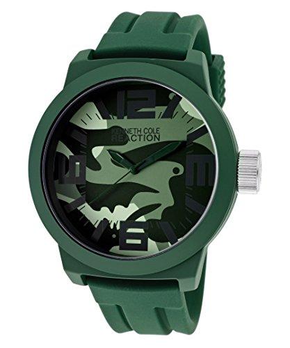 Kenneth Cole Reaction Green Rubberized Metal Men's watch #RK1294