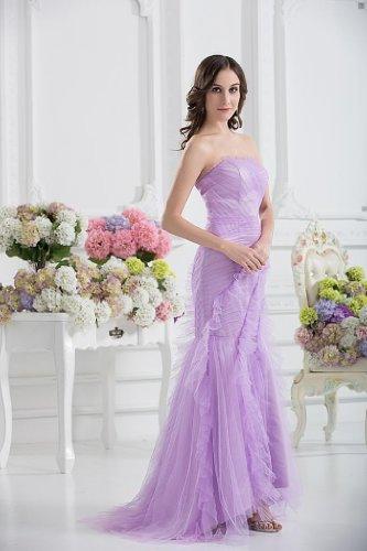 Brautjungfer Bride Meerjungfrau Zug Mit Kleid Abendkleid Lila Flieder George