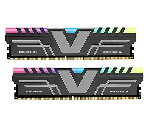 V-Color Prism RGB 16GB (2 x 8GB) DDR4 3200MHz (PC4-25600) CL16 1.35V Desktop Memory -Grey (TL48G32S8KGRGB16)