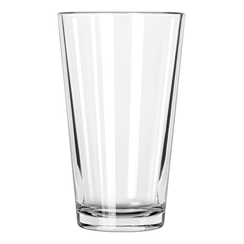Libbey Pint Glass with DuraTuff Rim (1639HT), 16oz - Set of 24 ()