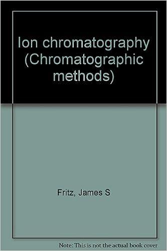 Ion chromatography (Chromatographic methods)