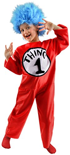 Thing 1 And Thing 2 Costumes Boy And Girl (Dr Seuss Cat in the Hat Thing 1, 2, 3 or 4 Child Costume - Small)