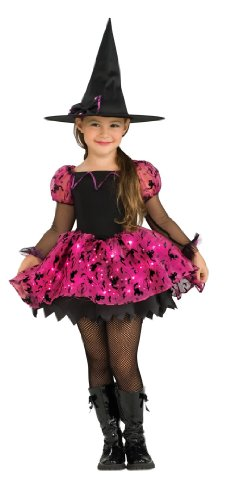 Child's Moonlight Magic Costume with Fiber Optic Light Twinkle Skirt - -