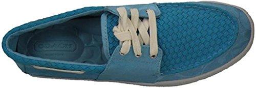 Coach Malania Flat Boat Womens Shoes Size US 7 Turquoise pnFO3KyfnJ