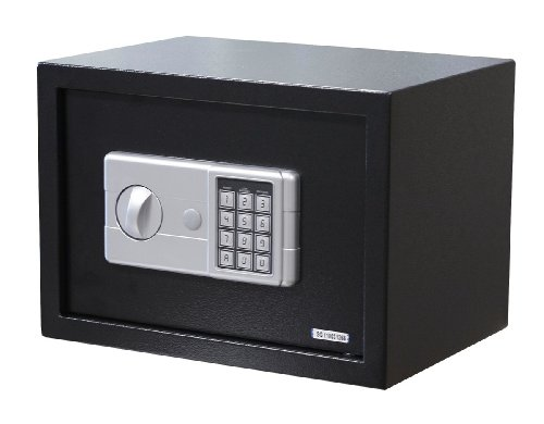 black small digital electronic safe box keypad lock security home office hotel. Black Bedroom Furniture Sets. Home Design Ideas