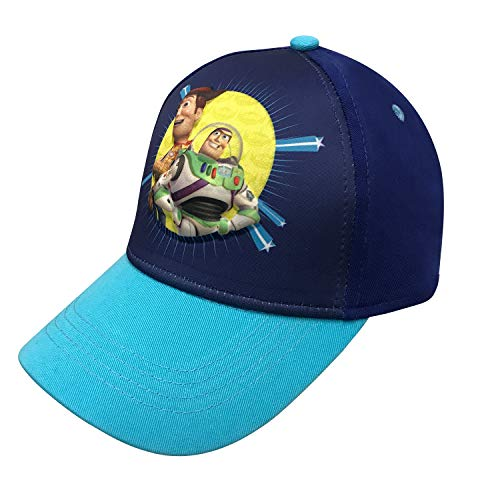 Disney Pixar Toy Story 4 Boys 3D Baseball Cap with Tom Hanks and Tim Allen Age 4-7 Blue (Hat Toy Disney Story)