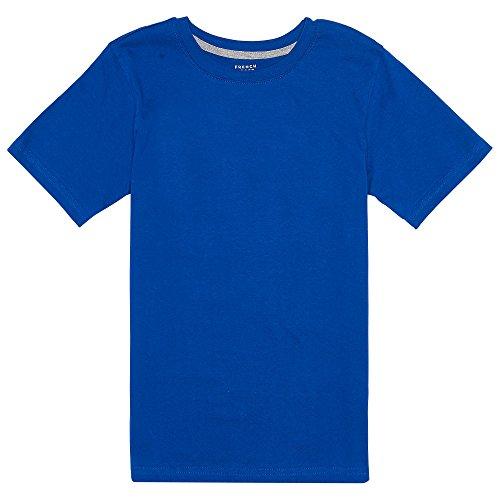 Blue Tee T-shirt (French Toast Big Boys' Short Sleeve Crewneck Tee, Royal, 8)
