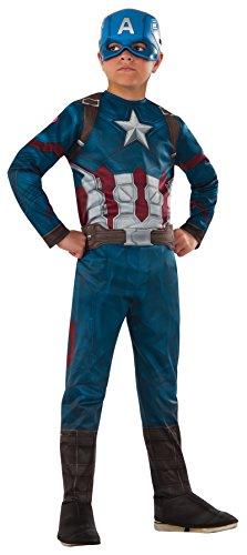 UHC Boy's Captain America Civil War Theme Fancy Dress Child Halloween Costume, Child L (12-14)