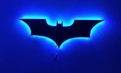 Dc comics batman logo batman led wall lightcolorful rgb usb led dc comics batman logo batman led wall lightcolorful rgb usb led mirror light aloadofball Images