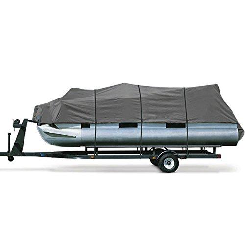 Heavy Duty Waterproof Gray Pontoon Cover Fits Length 20' 21' 22' 23' 24' ' - Beam Width 102