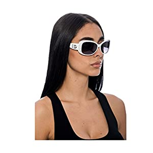 DG Eyewear Sunglasses for Women Fashion - Assorted Styles & Colors (White, ZB357D)