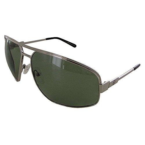 Revo Men's Unisex RB 1002 Bono Collection Stargazer Aviator Polarized Sunglasses, Chrome Frame, Green Lens (Revo Aviator)