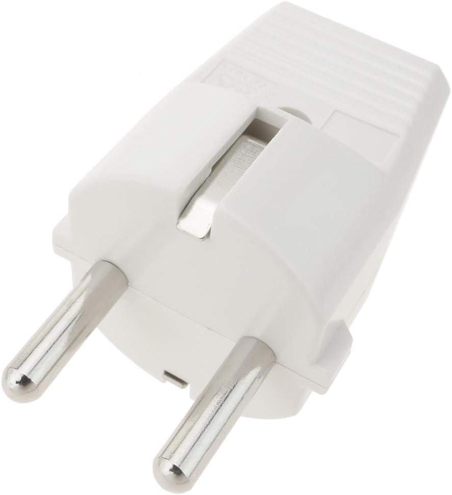 BeMatik Clavija Enchufe Doble schuko de Color Blanco 220VAC con Interruptor