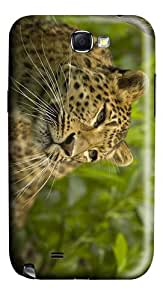 case crazy leopard animal PC case/cover for samsung galaxy N7100/2