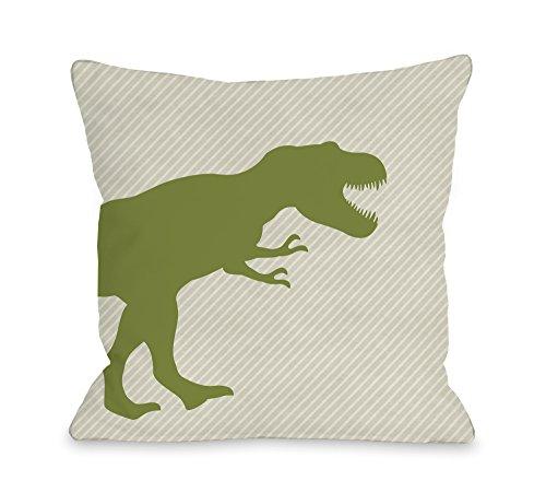 One Bella Casa T-Rex Stripe Throw Pillow by OBC, 16