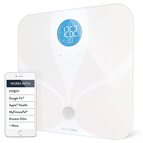 WiFi Smart Connected Body Fat Bathroom Scale by GreaterGoods, Backlit LCD, ITO Conductive Surface Technology, Accurate Precision Health Alerts, Measurements, and Monitoring (Certified Refurbished) ()