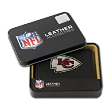 NFL Kansas City Chiefs Embroidered Genuine Leather Trifold Wallet