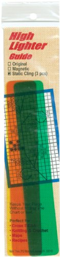 Static Cling High Lighter Guide -6 Inch X1 Inch 3/Pkg - Joann Cross Stitch