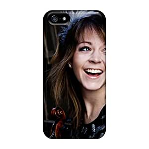 New Premium AaronCharming Girls Lindsey Stirling Violinist Skin Case Cover Excellent Fitted For Iphone 5/5s