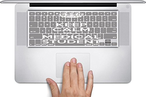 Keep Calm Medical Student Macbook Keyboard Decals (Fits 11 inch Air)