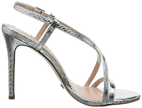 Silver Strap Ankle Sandals WoMen Dune Madeena reptile Silver waqxXwHTA