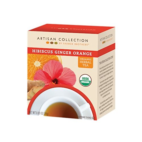 Artisan Hibiscus Ginger Orange Organic Herbal Tea, 1/15 ct box Organic Orange Ginger