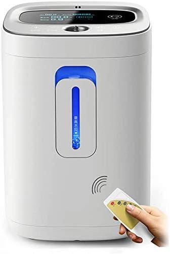 高齢妊婦酸素濃縮器1-6L /分調整可能なポータブル酸素吸入器、インテリジェントタイミング+赤外線リモートコントロール+ LEDディスプレイ酸素発生器、白