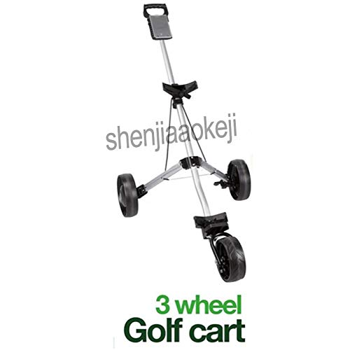 - AXDZ 3-Wheels Push Pull Golf Cart Aluminium Alloy Foldable Trolley with Brake 1pc Cart Foldable Folding Hand Truck